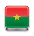 Metal icon of Burkina Faso vector image