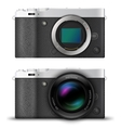 Mirrorless compact camera vector image vector image