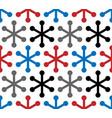 modern snowflake seamless pattern vector image