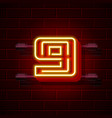 neon city font number 9