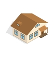 One storey house with porch icon vector image vector image
