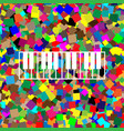 piano keyboard sign white icon on vector image