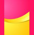 Pink and orange contrast gradient color wavy vector image vector image