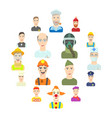 profession icons set flat style vector image vector image