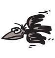 raging crow vector image