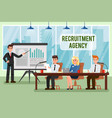 recruitment agency with text vector image