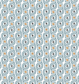 Seamless retro pattern with swirls vector image vector image