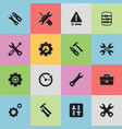 set of 16 editable toolkit icons includes symbols vector image vector image