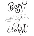 set of best word on white background hand drawn vector image vector image