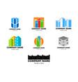 set of town logo template design vector image vector image