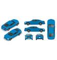 set sedan cars isolated car template vector image vector image