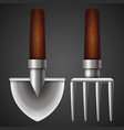 shovel and pitchfork for garden vector image