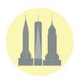 skycrapers of new york city vector image