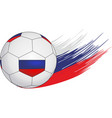 soccer ball on the background of streaks in the vector image vector image