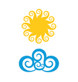 Sun Cloud vector image