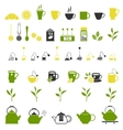 Tea icons Pots set vector image vector image