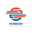 technology logo concept design abstract vector image vector image