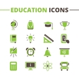 trendy school icons set Minimalistic flat vector image