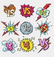 versus doodle patch set vector image