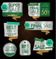 vintage style golden sale labels design vector image vector image