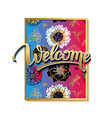 welcome spring poster advertising spring vector image