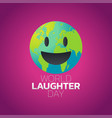 world laughter day icon design vector image