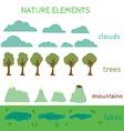 Nature Design elements Build your own Landscape vector image