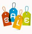 Sale Labels Isolated on White Background vector image