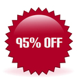95 Off Sticker vector image vector image
