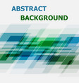 abstract blue and green geometric overlapping vector image vector image