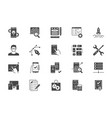 application development flat icons vector image vector image