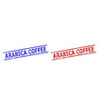 arabica coffee stamps with corroded surface and vector image vector image