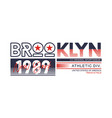 athletic brooklyn new york brooklyn typography des vector image vector image