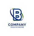 b company name design logo template brand name vector image