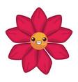 beautiful flower kawaii cartoon vector image vector image