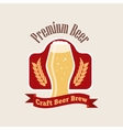 beer logo Flat style emblem isolated on vector image vector image