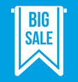big sale banner icon white vector image