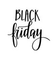 black friday lettering design for poromo vector image