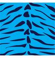 blue tiger vector image vector image