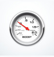 boost meter isolated vector image vector image