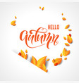 bright fall leaves background vector image vector image