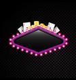 brightly theater glowing retro casino neon vector image vector image