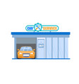 car service garage maintenance 24 hour station vector image vector image