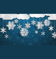 christmas background with three-dimensional paper vector image vector image