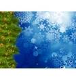 Christmas background with tree EPS 10 vector image
