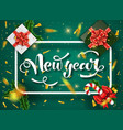 christmas green design template vector image