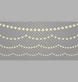 christmas lights seamless isolated on transparent vector image vector image