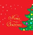 christmas tree greeting holiday card vector image vector image