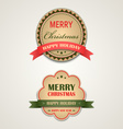 Christmas vintage retro design style element vector image vector image