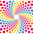 circular background made from colored dots vector image vector image